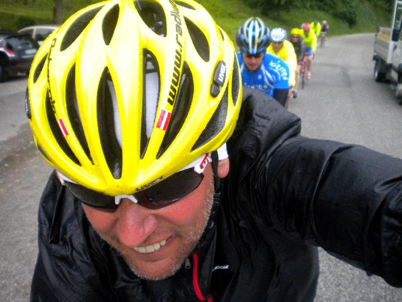 Die Radler unterwegs in der Romagna