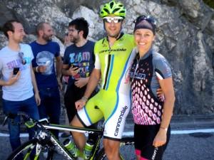 Oskar Gatto ITA. und Trainingspartnerin Katja (wenn Oskar Gatto nich noch die letzte Etappe hätte fahren müssen wären wir unsere Katja womöglich los geweswn?)