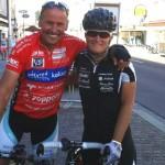 Radlwolf und Yvonne Marzinke Deutschland freuen sich nach der Hitzeschlacht im Ziel zu sein