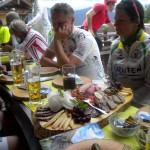 Mittagspause auf der Alpe Mohr