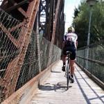 über die Eisenbahnbrücke in Spittal/Drau