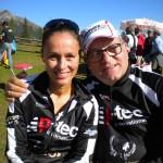 Katja und Klaus überglücklich gemeinsam die Plätze 16 und 17 erreicht zu haben