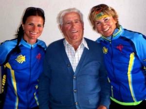 Die Jakobsweg-Radlerinnen Steffi und Rami