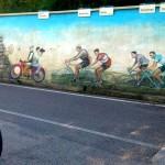 "vorbei an den ""Giro d Italia"" Siegern Nähe Bordano"