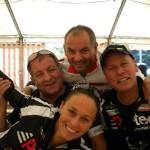 Gönner P-Tec Chef Klaus Mamedof, Trainingspartnerin Katja, ÖM Erich Stauffer und Radlwolf