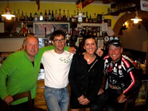 Den Abschluss der Tour machten die Radler wie schon üblich bei Ulica in der BAR AL TIGLIO in Togliano