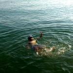 foto©Michi Kurz/ Michi nahm sich nach dem Mittagessen sein obligatorisches Bad in der Adria