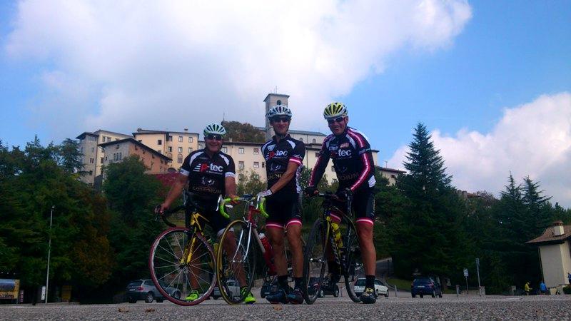 Die Radler in Castelmonte