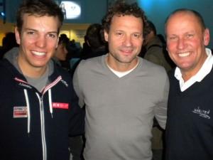 v.l. Doppelparalympic-Goldmedaillengewinner Markus Salcher, Ex-Radprofi Peter Wrolich und Paralympic-Silbermedaillengewinner Wolfgang Dabernig