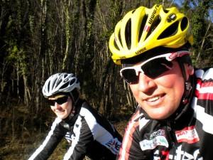 Straßensaisoneröffnung mit Trainingspartnerin Sabrina in Friaul