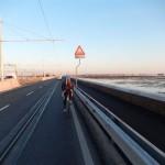 Einfahrt über die Ponte della Libertà nach Venedig
