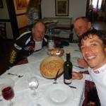 """zum Mittagstisch in der """"Osteria San Gervasio"""" in Nimis"""