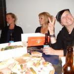 Empfang bei Radlwolf zu Hause mit den Trainingspartnerinnen v.l. Dani, Sabrina, Motz