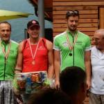 Siegerehrung Gästeklasse Herren v.l. Werner Unterluggauer, Sieger Jürgen Kühschweiger und Thomas Kogler mit KBSV Präsident Franz Weingartner
