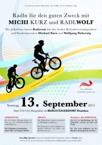 Einladung zum Radeln für den guten Zweck mit Michi Kurz und Radlwolf