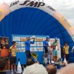 """die italienische Radspitze am Podest beim """"Memorial Marco Pantani"""""""