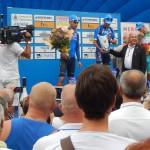 Siegerehrung mit Pantani`s Vater