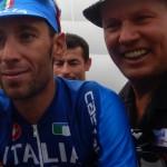 Tour de France Sieger 2014 und italenischer Meister Vincenzo Nibali und Radlwolf