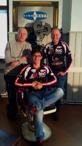Cinecraft Geschäftsführer Christian Giesser mit Michi Kurz und Radlwolf