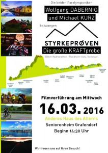 Plakat Filmvorführung Anderes Haus des Alterns Seniorenzentrum Grafendorf