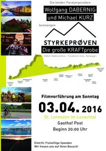 Plakat Filmvorführung Gasthof Post - St. Lorenzen/Les.