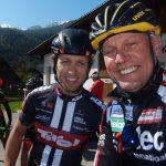 Clemens Fankhauser Kapitän der Tirol Mannschaft und Radlwolf kurz vor dem Start