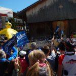Mikel Landa Meana auf den letzten Metern zum Etappensieg in Anras/Osttirol