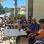 Ausfahrt mit den Senioren über 51 km v.l. Maria, Motz, Stefan, Franz, Radlwolf, Adi 91 Jahre und Bruno 87 Jahre (2016)