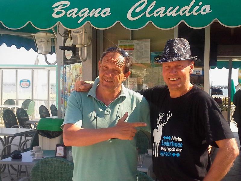 den letzten Cappuccino bei Claudio und auf Wiedersehen bis zum nächsten Jahr