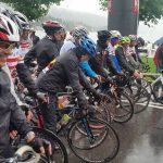 "strömender Regen bei der ""Tour de Franz 2016"""