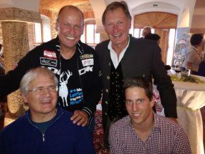 v.l. Klaus Klammer, Radlwolf, Franz Klammer und Lukas Müller