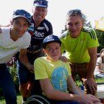 Michi, Radlwolf, Simon und Ingo freuen sich über die gelungene Veranstaltung