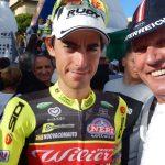 Matteo Busato freut sich über Platz zwei