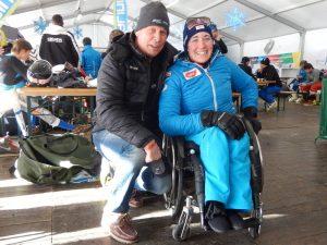 Radlwolf mit der erfolgreichsten österr. Para Ski Dame Claudia Lösch