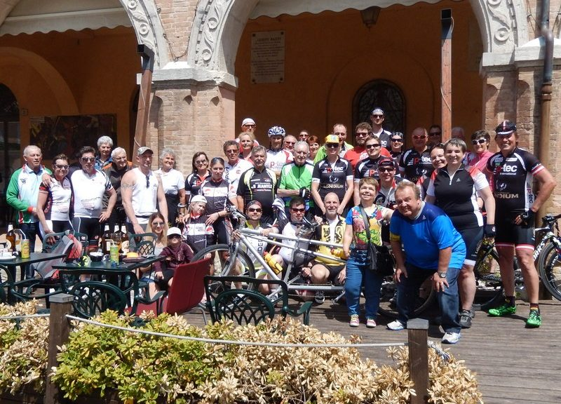 Die Teilnehmer der Radwoche Cesenatico 2017