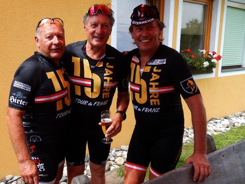 Trainingspartner Kurt Strobl, Franz Klammer und Radlwolf
