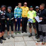 die Mittelzeitsieger 2. Platz Hubert Engl, die Sieger Manuel und Baldur Lenzhofer und der 3. Georg Gastinger