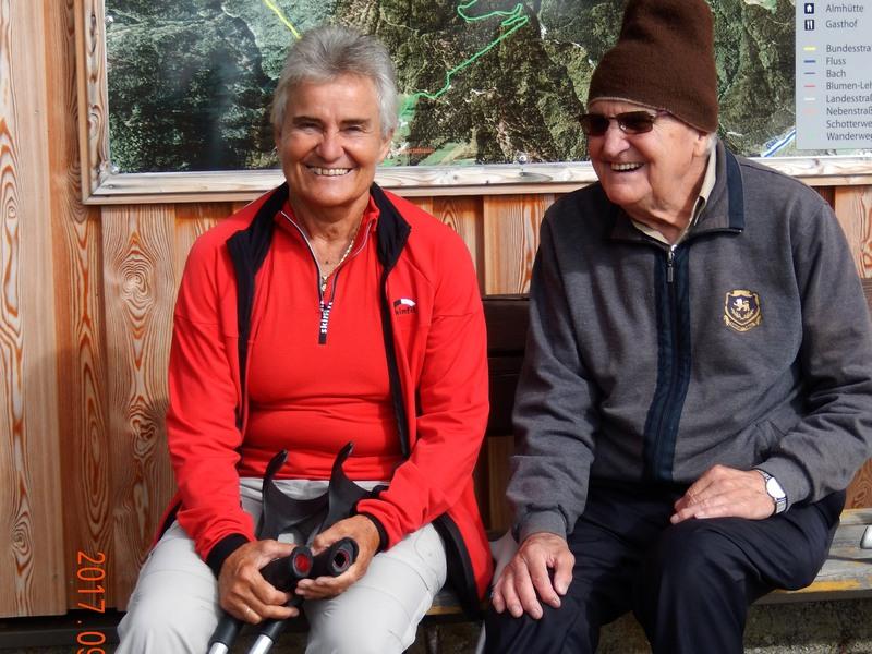 die treuesten Radlwolf- Fans und VSC-Villach Vereinskollegen Gerhild und Adi (92 Jahre )sind extra aus Villach angereist
