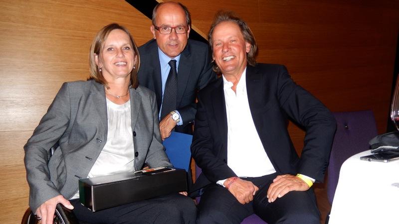 Wolfgang Dabernig mit Dagmar und Mag. Michael Wöhrer (er war einer der Therapeuten von Radlwolf im REHAB Zentrum Tobelbad)