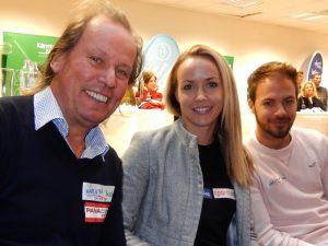 Radlwolf mit Billardqueen Jasmin Ouschan und Bruder Poolbillard-Weltmeister Albin Ouschan