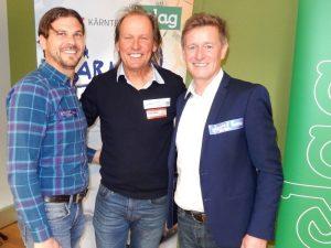 v.l. Verein Kärnten-Sport Administrator Stefan Weitensfelder, Wolfgang Dabernig und Landessportdirektor Mag. Arno Arthofer