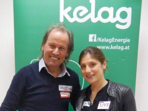 Wolfgang Dabernig mit Olympionikin Lisa Perterer Triathlon