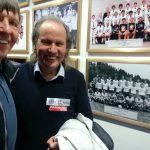 Kärntner Fußballlegende Heinz Singerl und Radlwolf