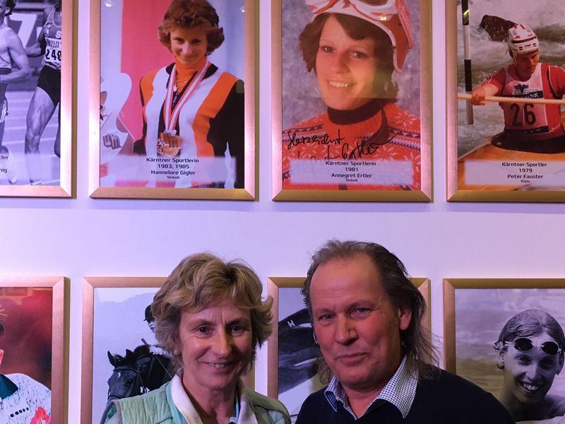Hannelore Gigler Kärntner Sportlerin des Jahres 1983 und 1985 mit Radlwolf