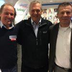 Radlwolf mit Alt LRV Präsident Norbert Steiner und Olympiasieger Karl Schnabl