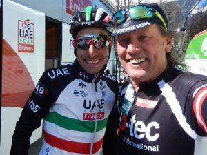 Fabio Aru aktueller italienischer Meister Profiradsport und Wolfgang Dabernig mehrmailiger österreichischer Meister Behindertenradsport
