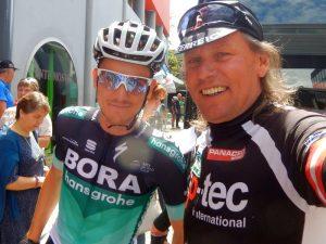 """der bestplatzierte Österreicher nach der 15. Etappe beim """"Giro d`Italia 2018"""" Patrick Konrad mit Radlwolf"""