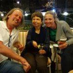 Radlwolf, Silvia und Dani freuen sich über die schöne Radwoche