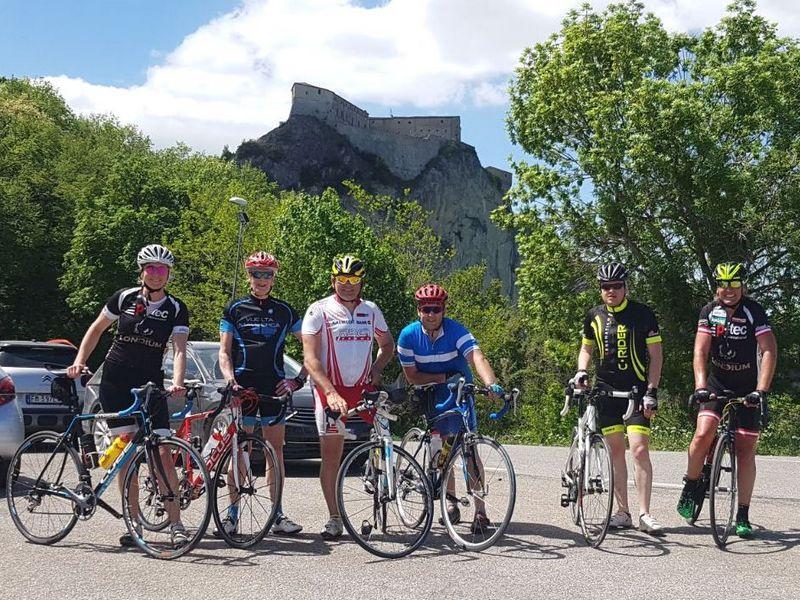 Dani, Rudi, Erich, Harald, Günther und Radlwolf in San Leo