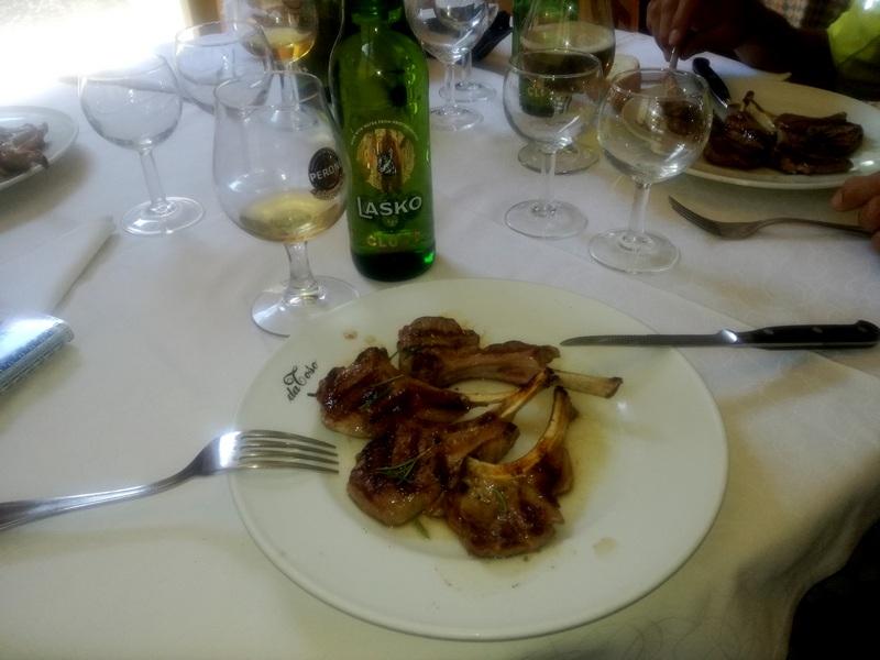 Mittagspause in der Nähe von Tricesimo